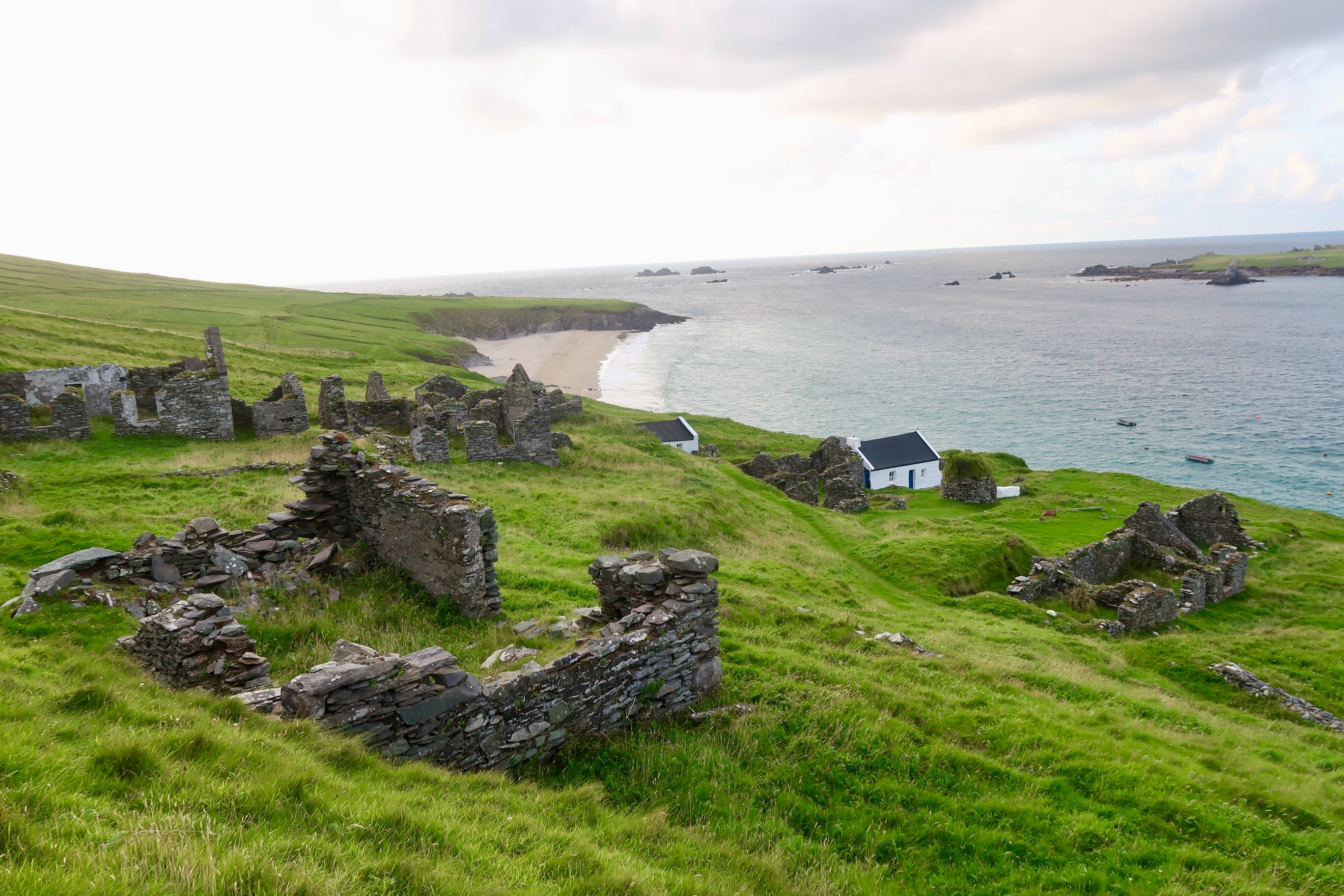 Ruins above the only small village on the Great Blasket Island