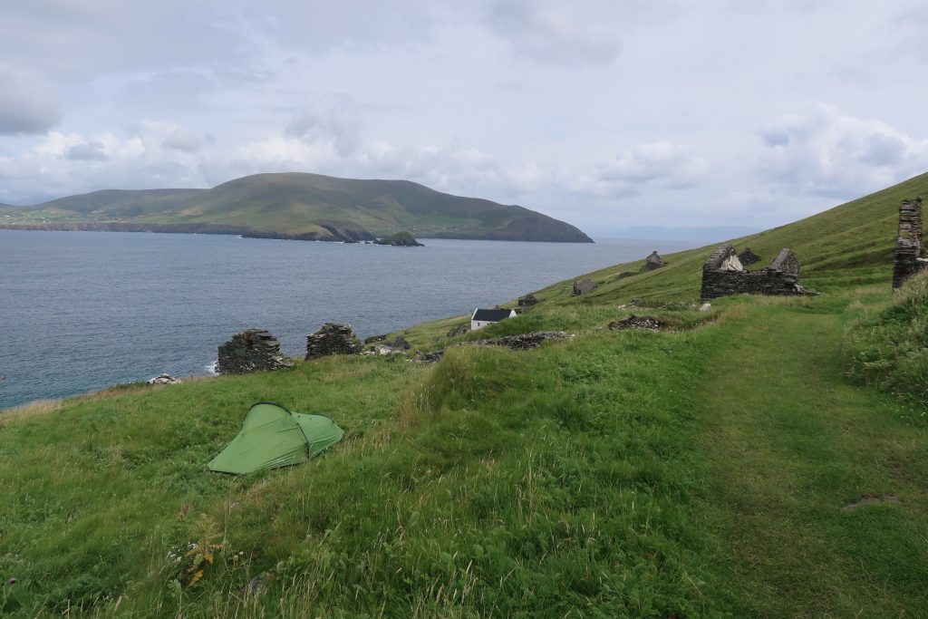 Tent with a view on the Great Blasket Island