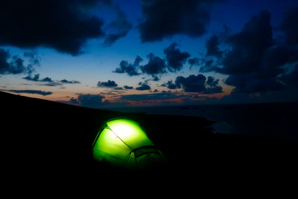 The only light for miles is found in this lone tent on the Great Blasket Island