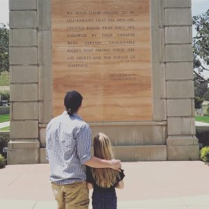 Tousey family at the Declaration of Independence Monument. Photo: Jen Tousey
