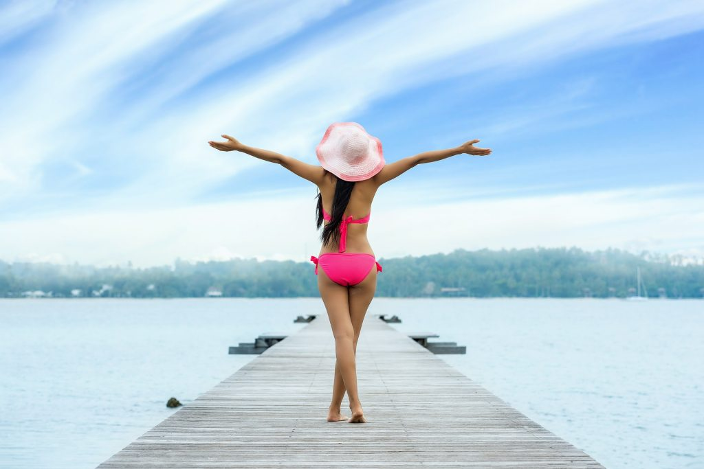Woman enjoying life outside