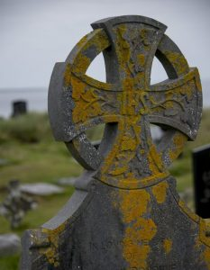 Aran Island Celtic cross