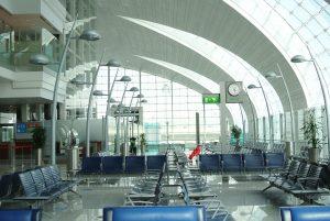 Empty Dubai airport