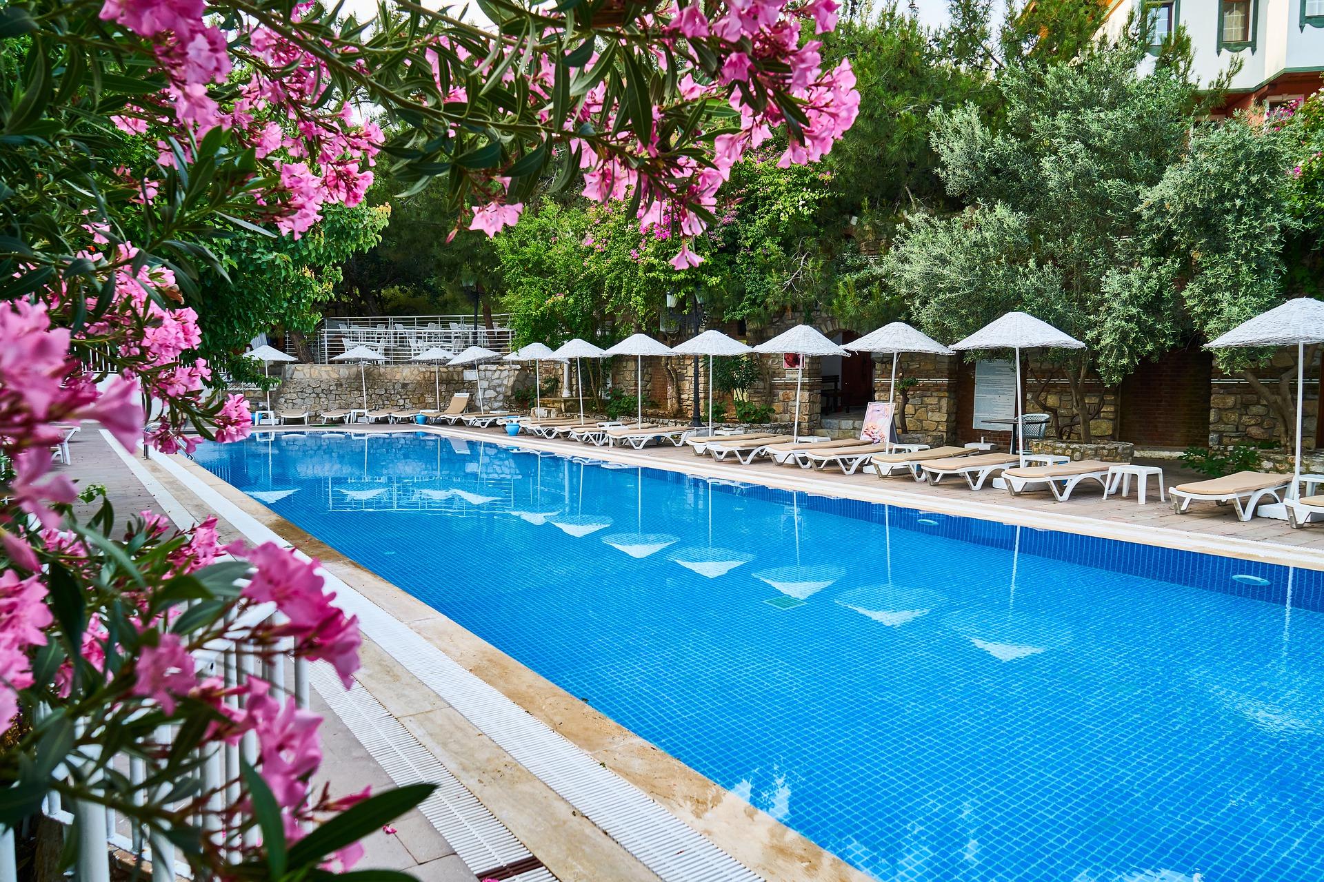 Empty hotel pool