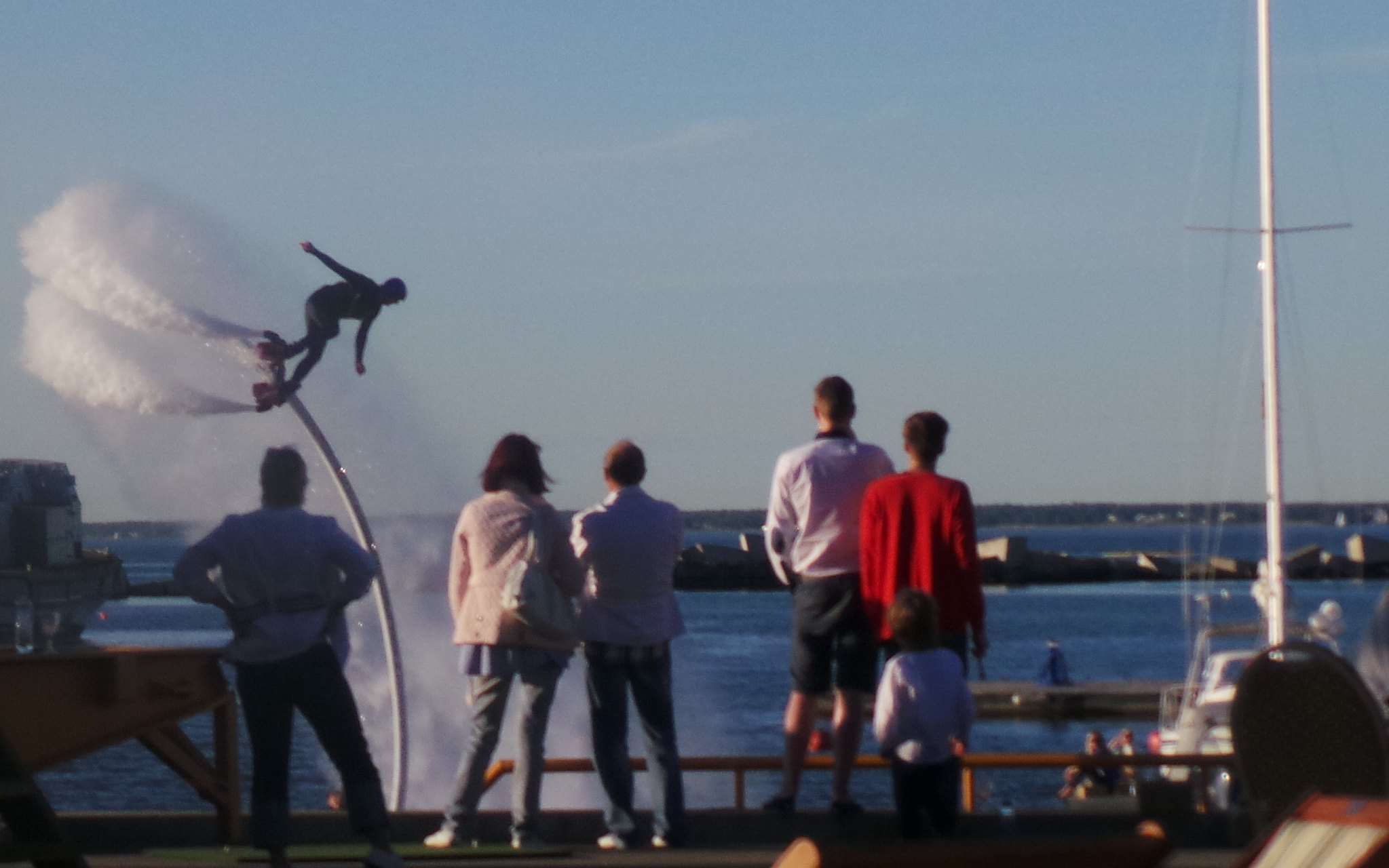 Flyboarding at Port Nobblessner. Courtesy of Visit Estonia