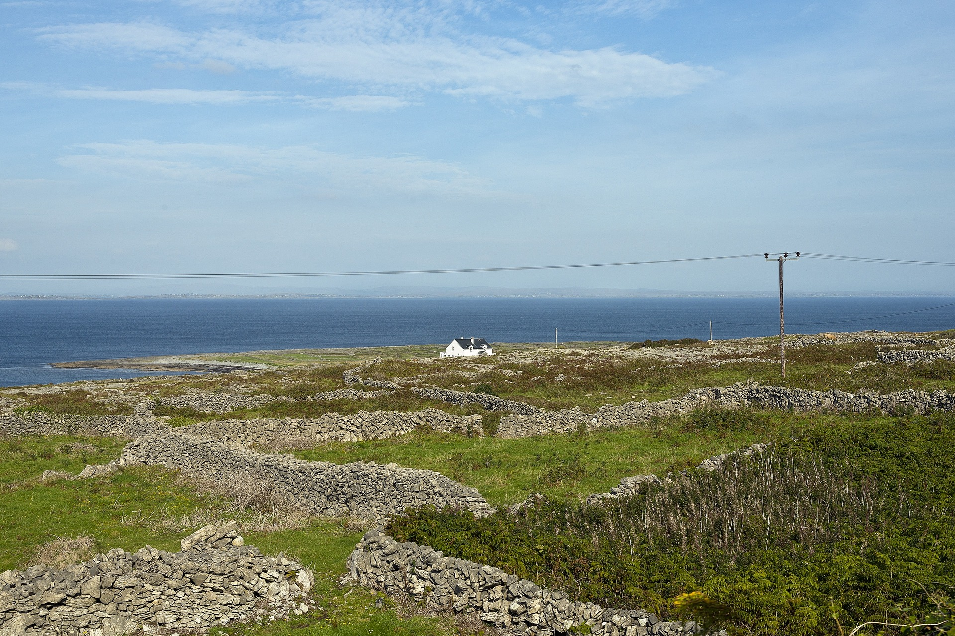 Single house on Aran Island