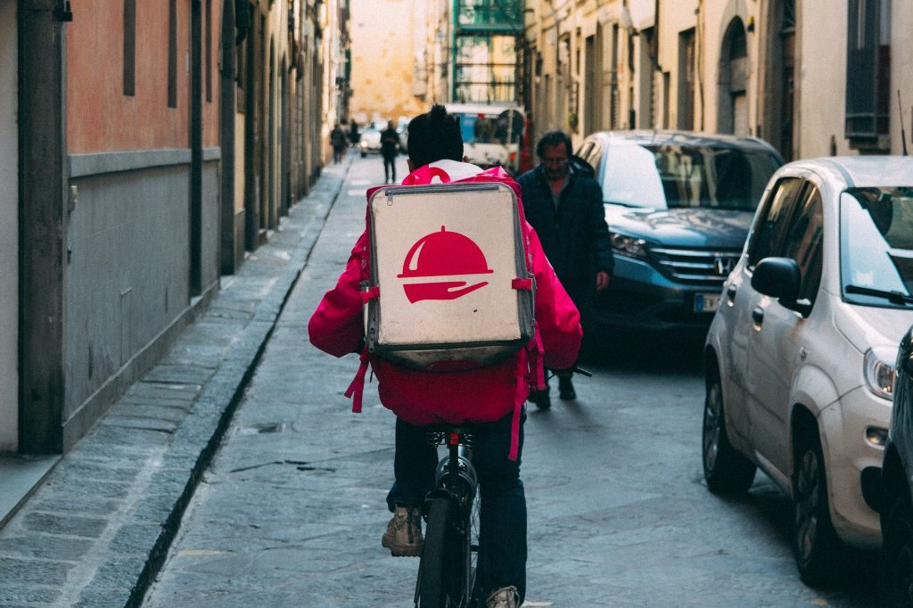 foodora-delivery on bike