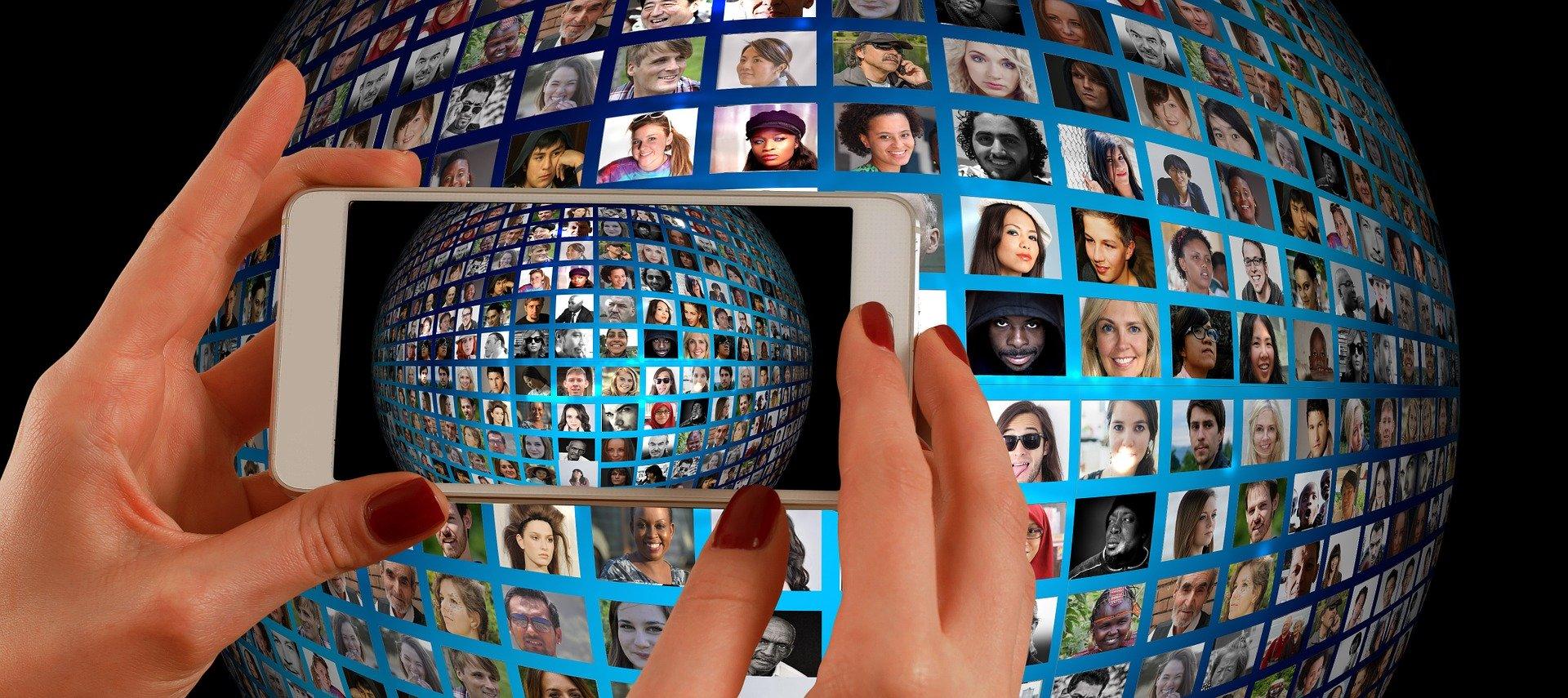 Faces across the globe through smartphone