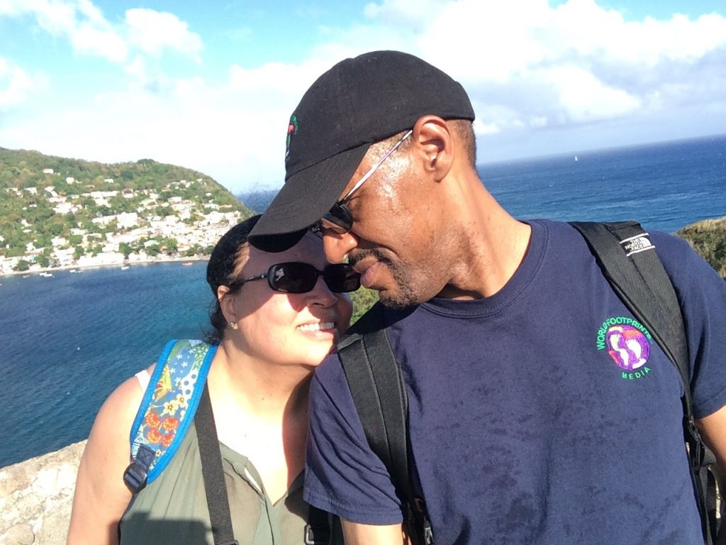 Ian and Tonya on Dominica