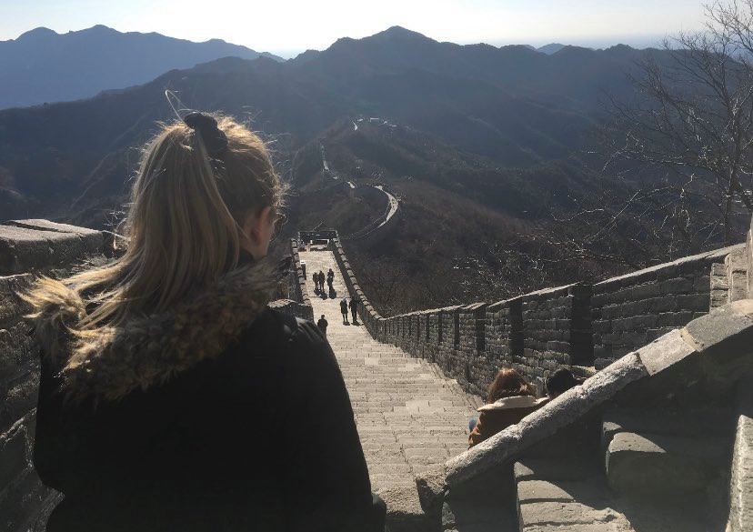 View of the Great Wall of China. Photo: Lydia Klemensowicz