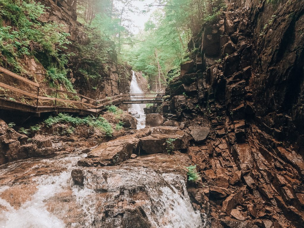 Waterfall in New Hampshire. Photo: Kellie Paxian