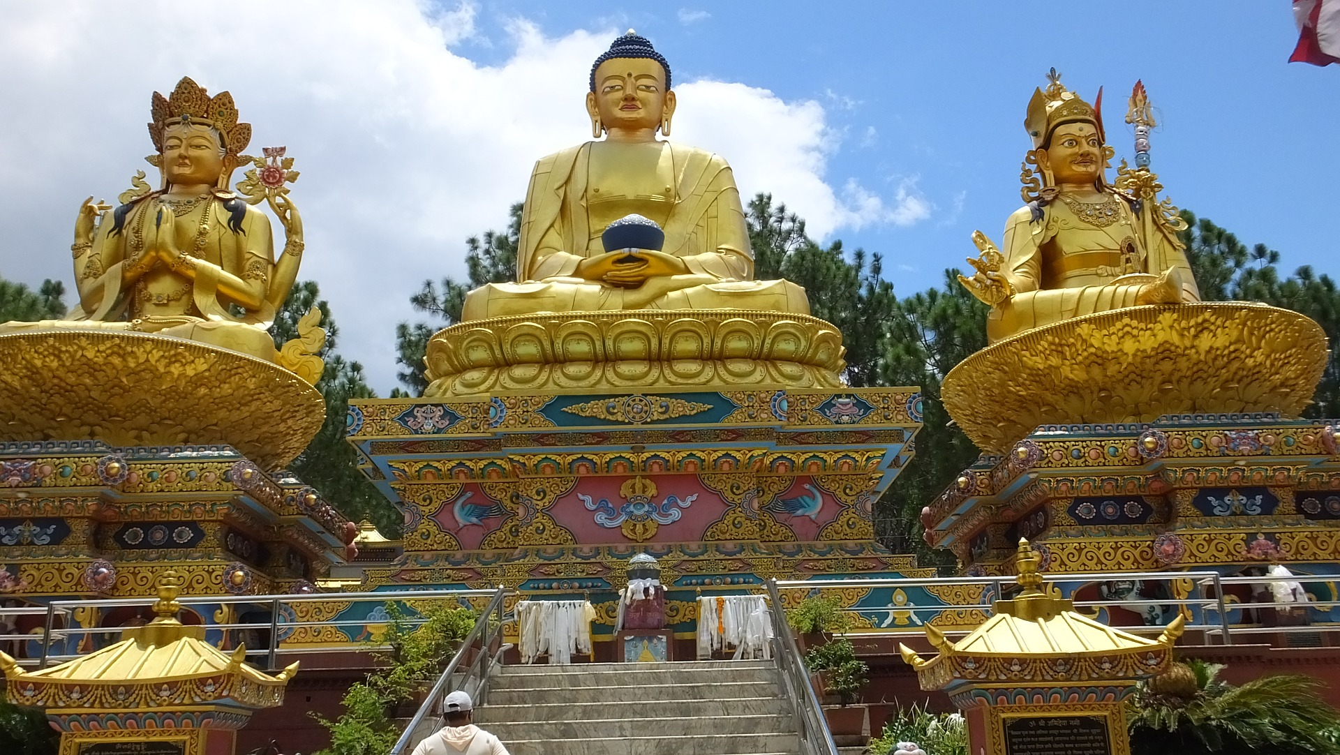 Swayambhu - an ancient religious monument in the Kathmandu Valley.