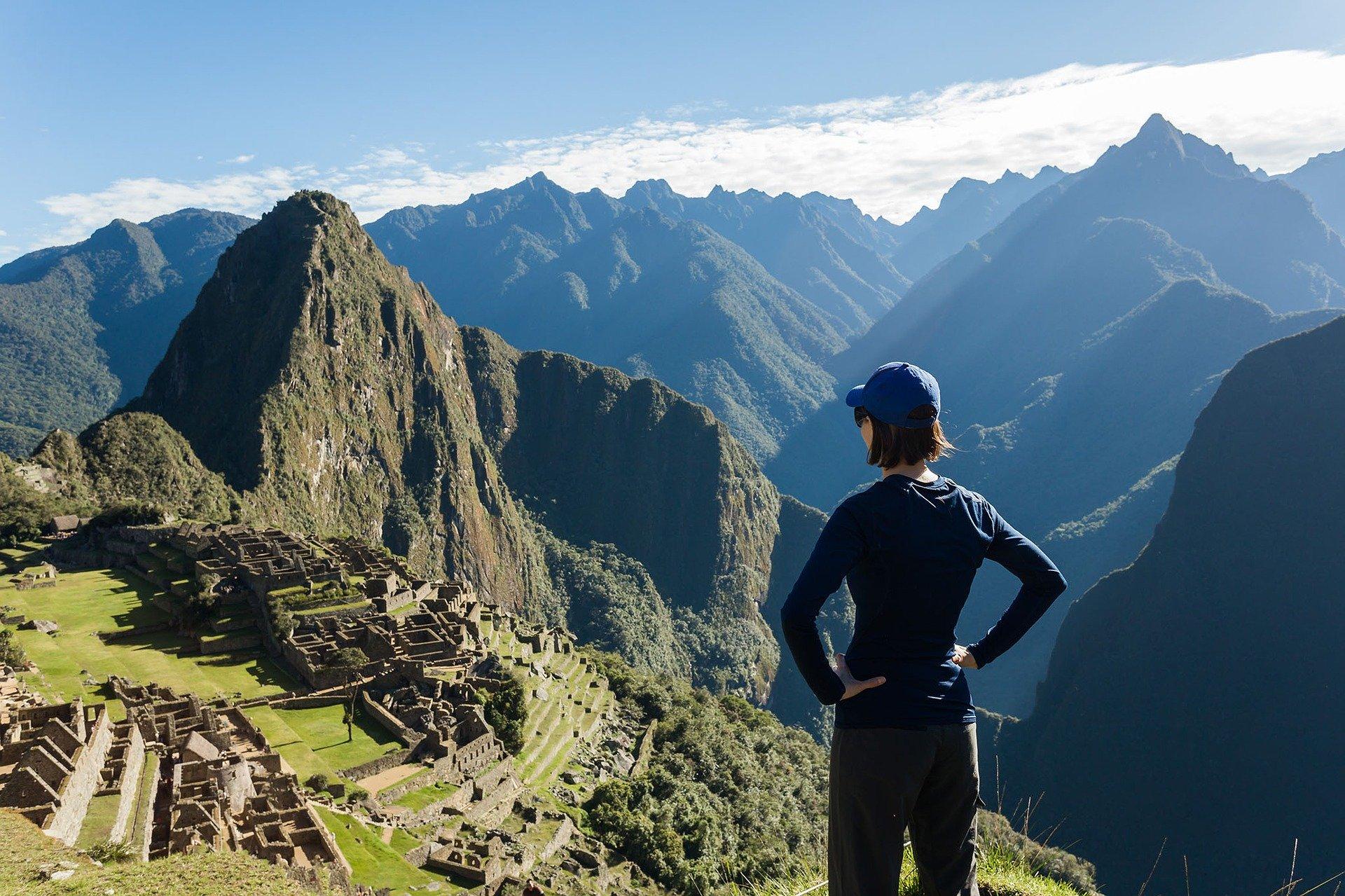 Peru overlooking Machu Picchu in appreciation of our planet