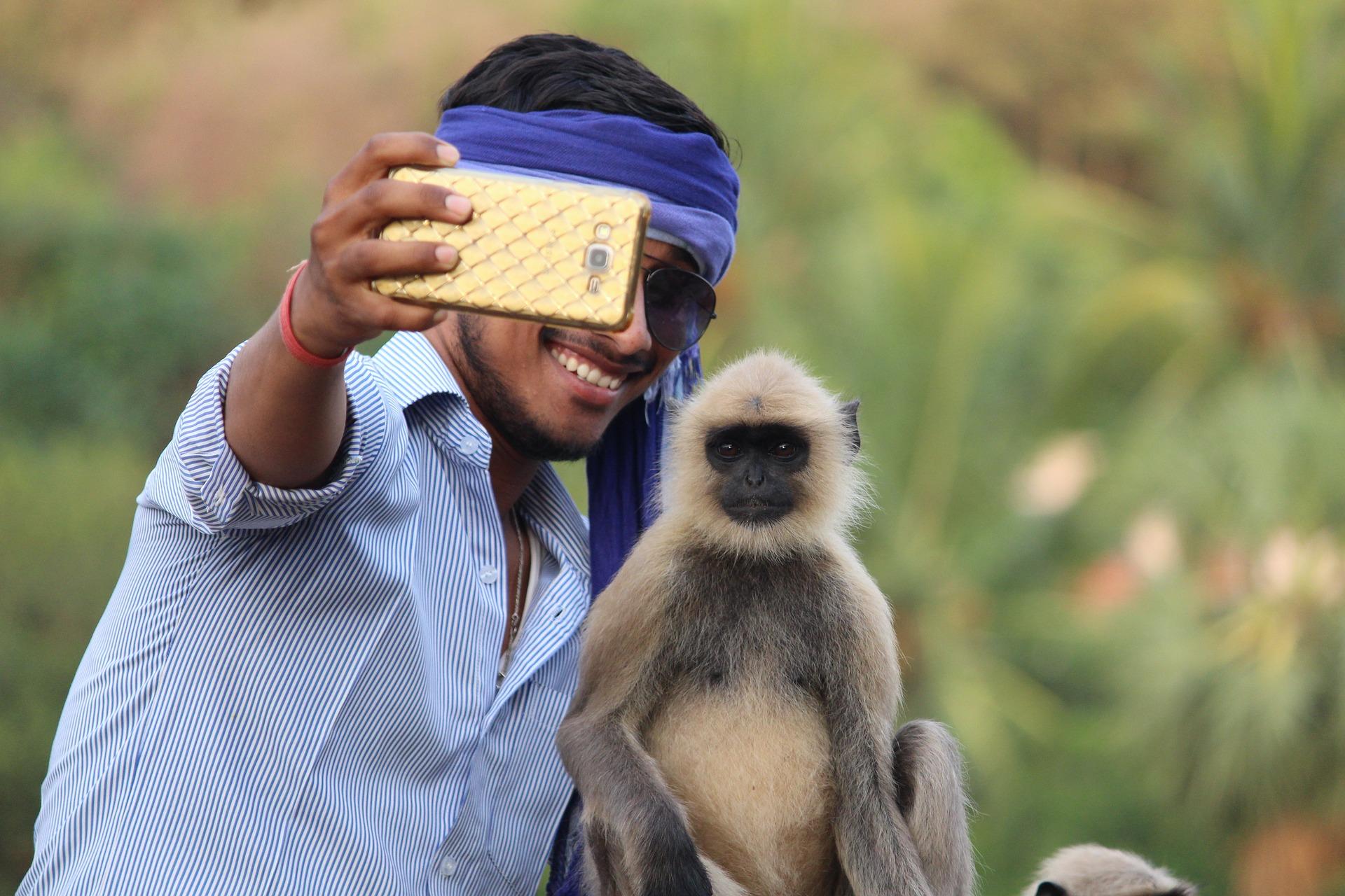 Selfie with monkey