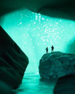 Glowing Cavern photo taken by Erin Sullivan