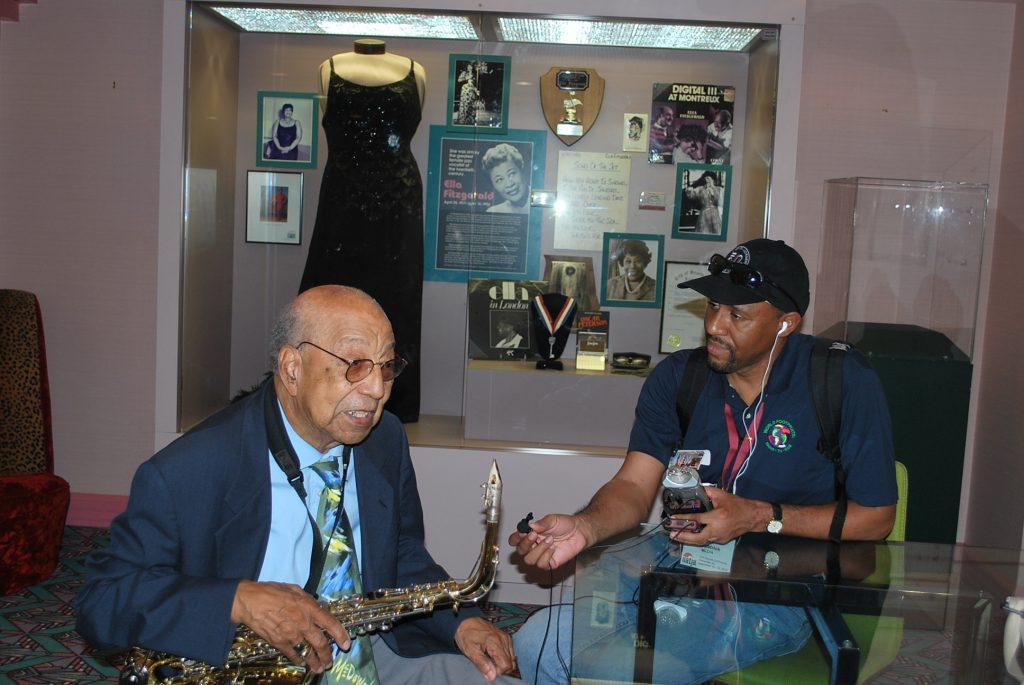 Interviewing Birmingham jazz great Dr. Frank Adams, Sr.