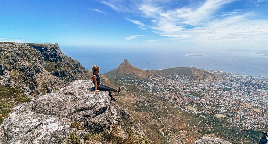Table Mountain hike with Lion's Head in background. Photo: Kellie Paxian