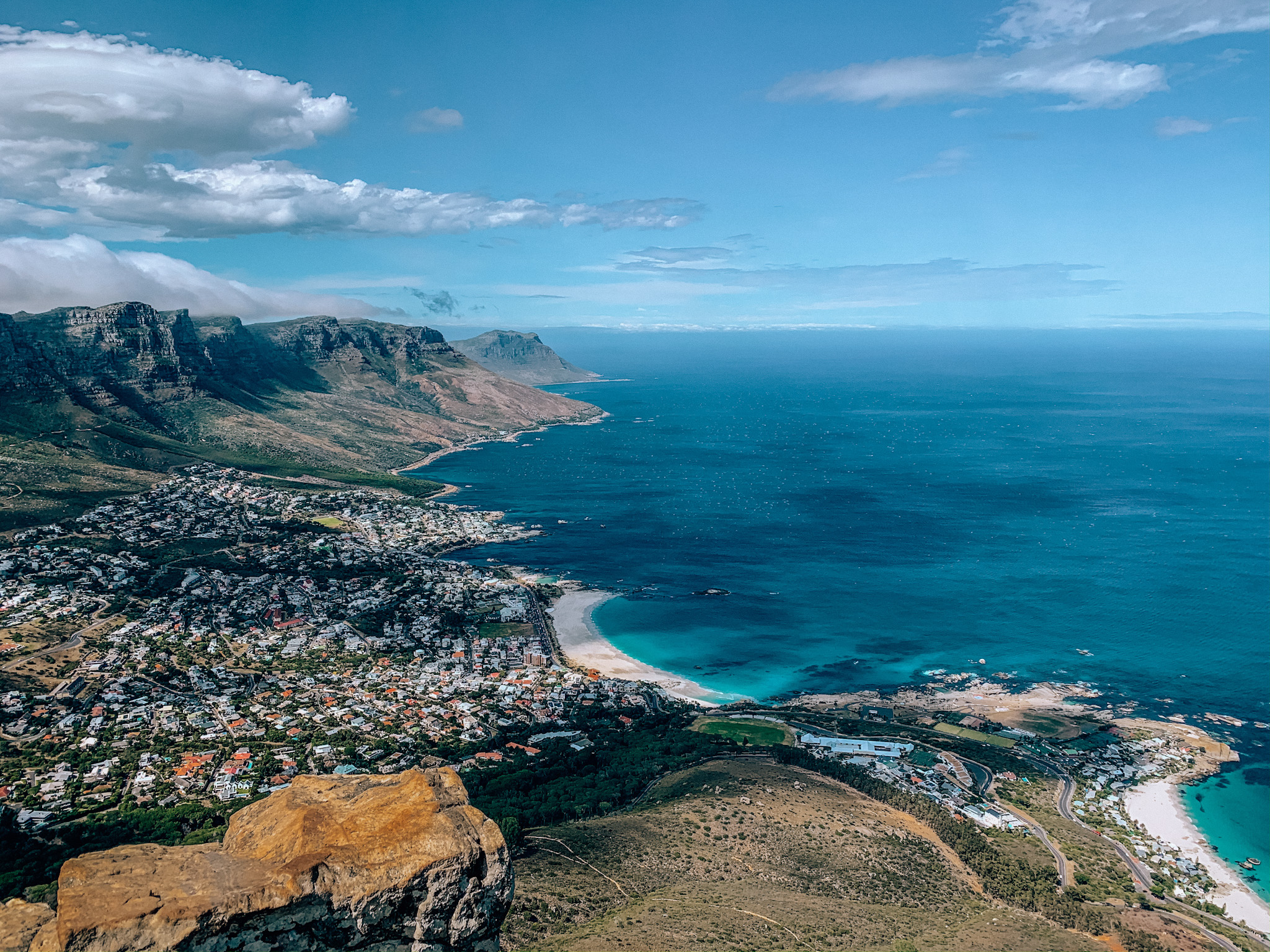 View of Camps Bay from Lion's Head. Photo: Kellie Paxian
