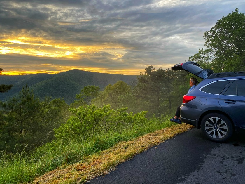 Road Trip Sunsent in Shenandoah National Park Photo by Gregory Holder