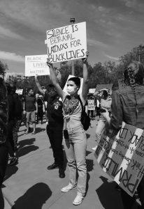 Black Lives Matter protest photo courtesy of Mike Von (unsplash)