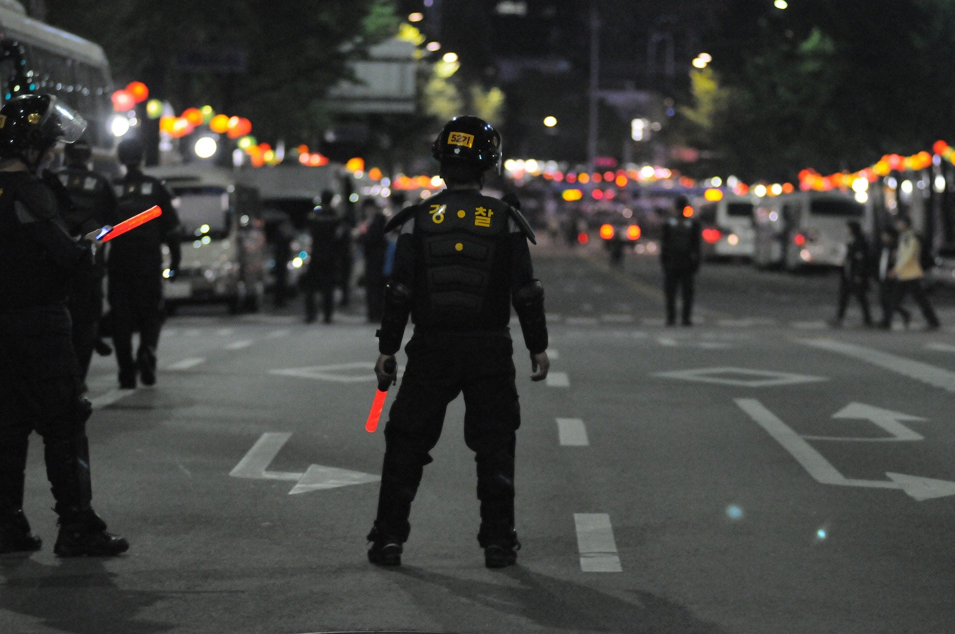 Republic of Korea riot police courtesy of pixabay