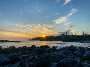 Sunset from Big Beach, Ucluelet, BC. Photo: Kellie Paxian