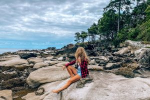 Author Kellie Paxian on Hornby Island, British Columbia