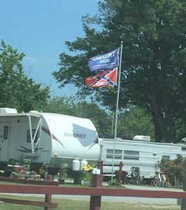 Tom Cove campground photo of confederate flag. Photo by Tonya Fitzpatrick