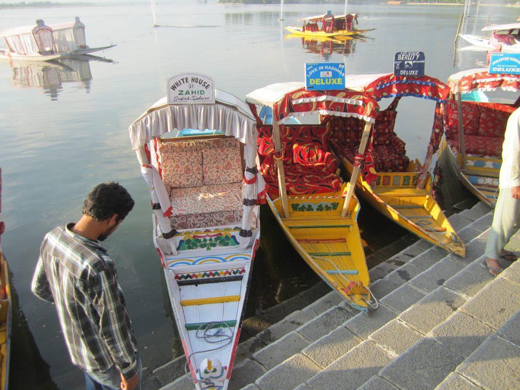Shikaras on Dal Lake. Photo: Manali Shah