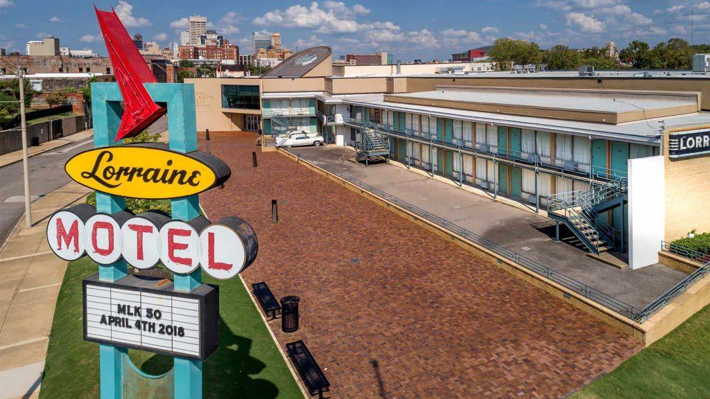 Black - Lorraine Motel Memphis. Photo courtesy of Civil Rights Trail