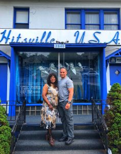 Martha Wells and Greg (author's husband) at Hitsville USA. Photo: Terri Marshall