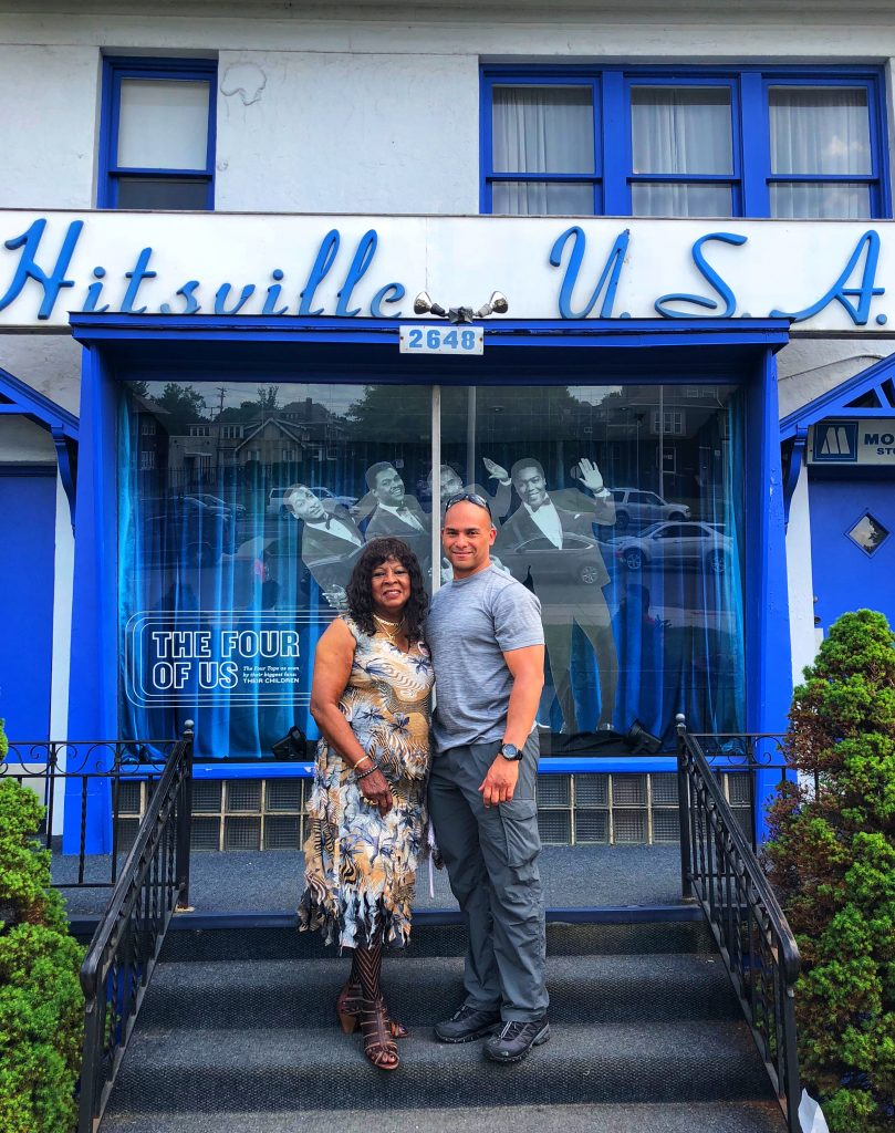 Martha Wells and Greg (author's husband) at Hitsville USA.  Photo: Terri Marshall