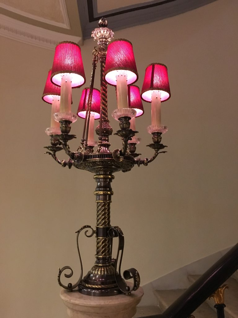 Avenida Palace Banister Lamp. Photo: Manali Shah