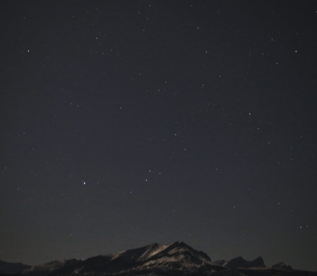 Night sky over Glacier National Park. Photo: Ali Wunderman