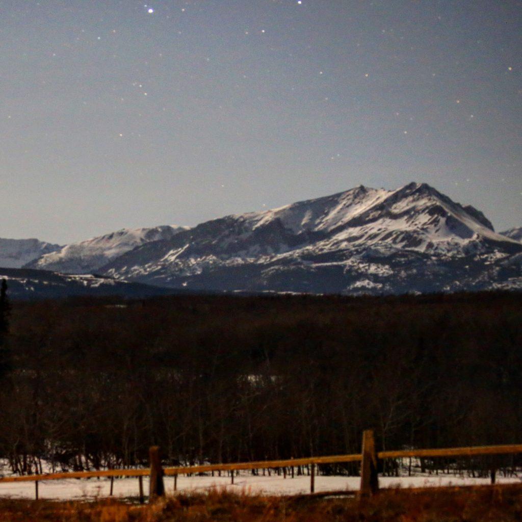 Night sky in Glacier National Park