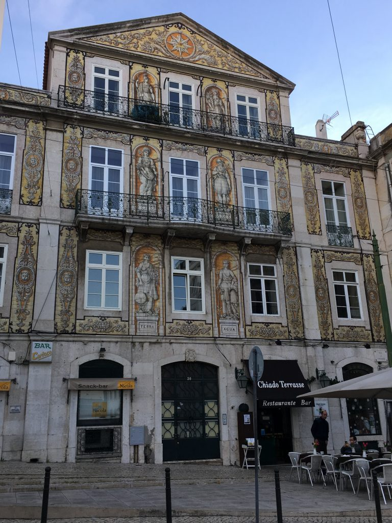 Building on a Lisbon street reflects detailed artistry. Photo: Manali Shah
