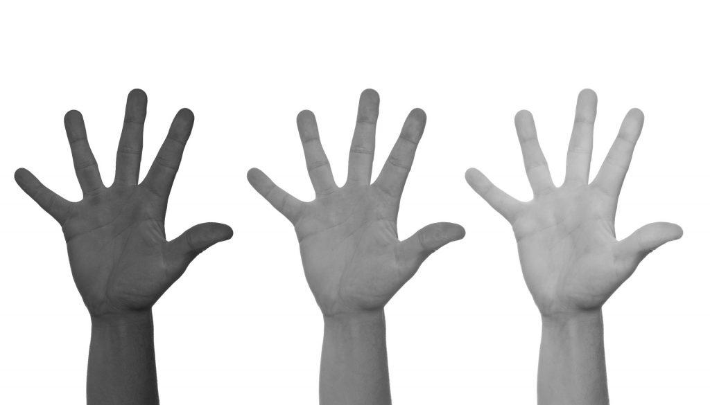 Stop Racism hands