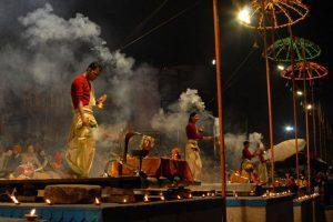 Ganga Aarti in Varanasi in the evening. Photo: Sugato Mukherjeeing. Photo: Sugato Mukherjee