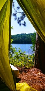 View from the tent photo by Nikki Gillingham
