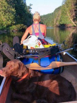 Nikki Gillingham canoe camping
