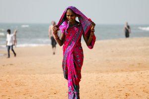 Woman on Goa Beach
