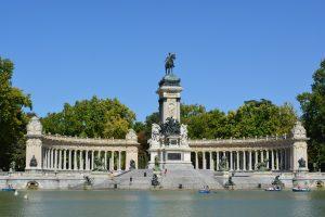 Park in Madrid, Spain