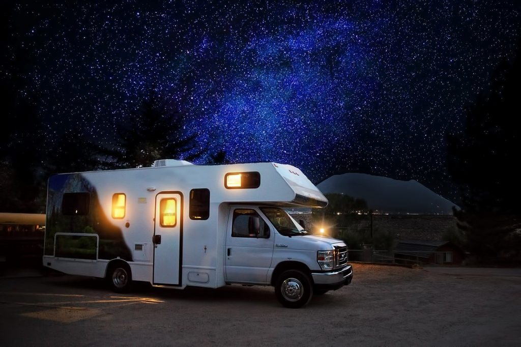 RV Camper and Stars