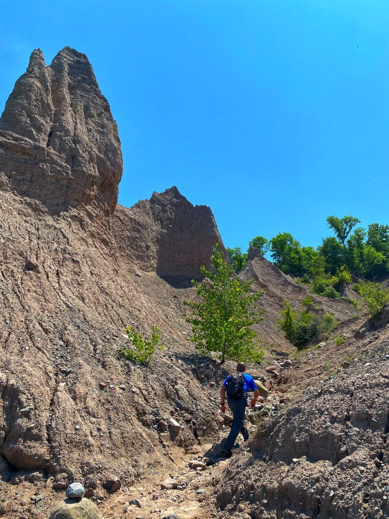 NY Exploring Chimney Bluffs. Photo: Terri Marshall