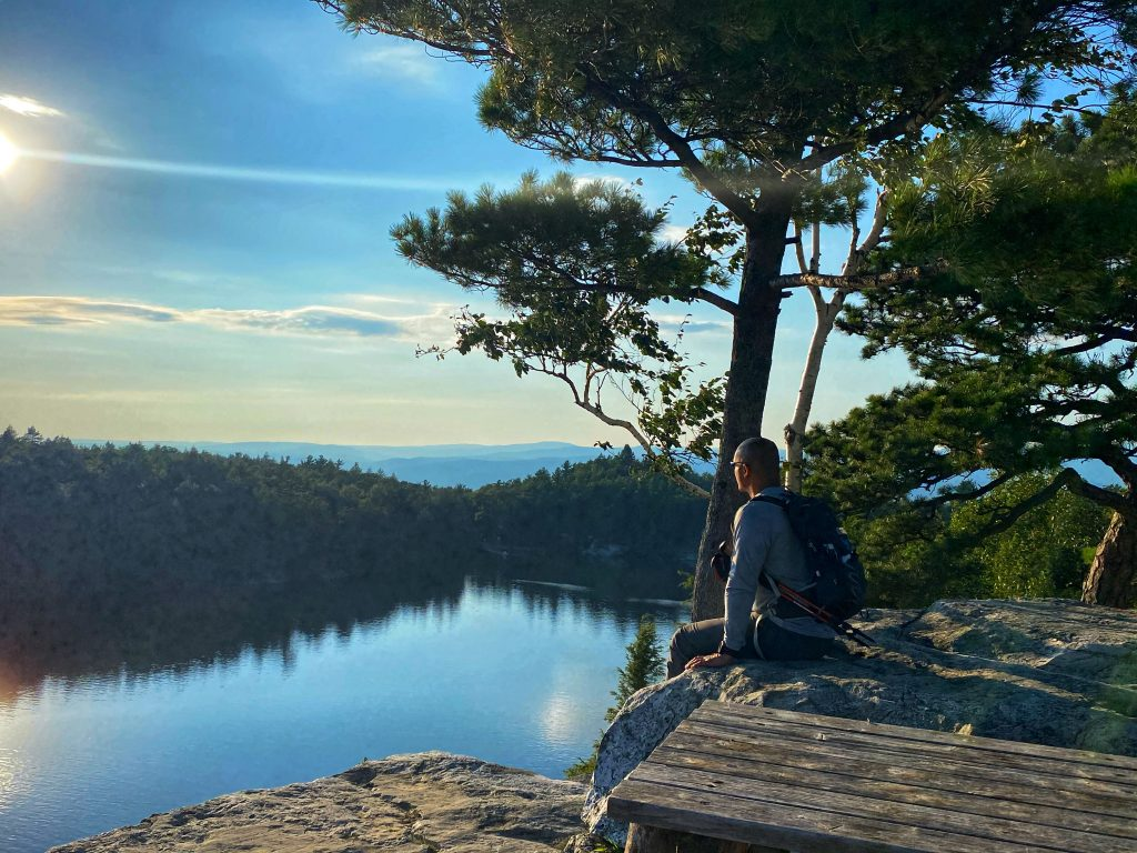 Overlooking Lake Minnewaska. Photo: Terri Marshall