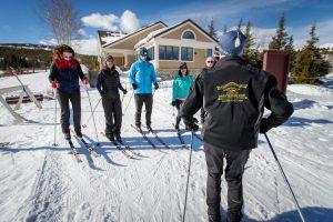 Gold Run Nordic XC lesson. Photo courtesy of Breckenridge Tourism Office