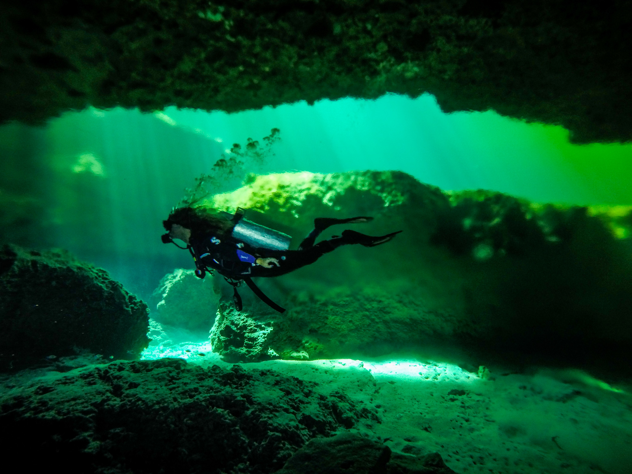 Cenote diving in Tulum. Photo: @Tulum.breathtaking