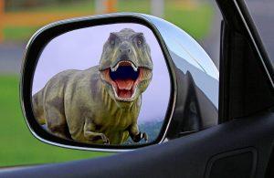 Dinosaur-in-mirror