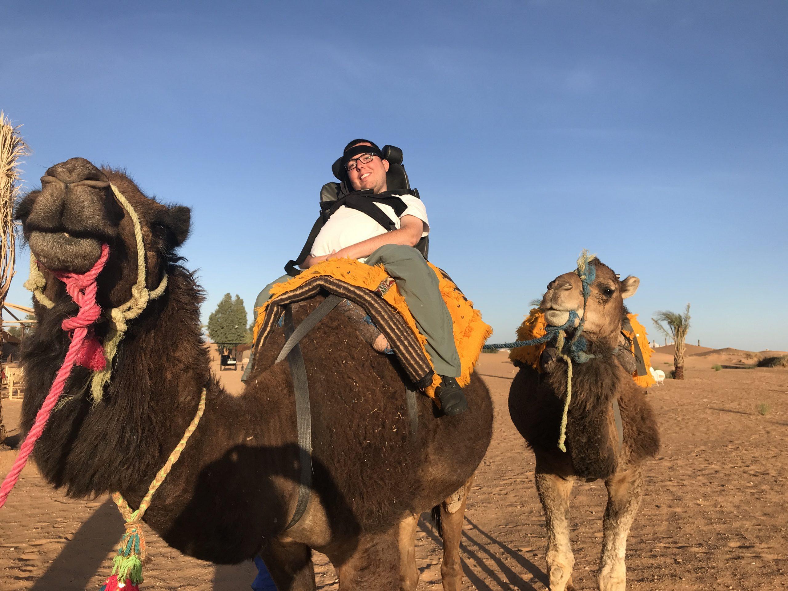 Cory Lee on camel