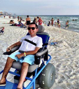 Cory Lee on the beach